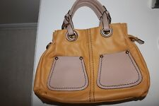 Mustard And Beige Handbag New Without Tags