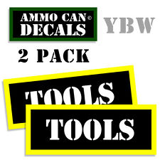 TOOLS Ammo Label Decals Box Stickers decals - 2 Pack BLYW