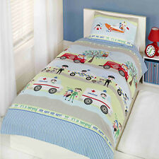 Emergency Service Police Ambulance Fire Engine Single Double Bedding Curtains