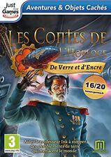 LES CONTES DE L'HORLOGE  : DE VERRE ET D'ENCRE    ---- JEU NEUF POUR PC