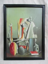 WONDERFUL YVES TANGUY SURREALISM PAINTING 1935 WITH FRAME IN GOOD CONDITION