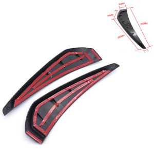 Carbon Fiber Color Side Wing Air Flow Fender Intake Vent Cover Fit For Car SUV