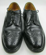 Florsheim Imperial 92604 Kenmoor Black 10C Longwing Broque Blucher Wingtip Shoes