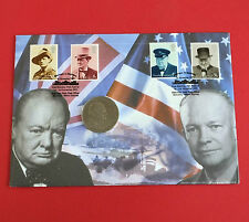 2002 BLENTCHLEY PARK CHURCHILL CROWN - NUMBERED COIN COVER