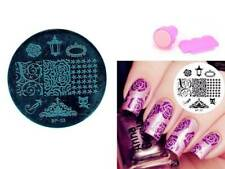Nail Art Stamping Black Cat Rose Theme Manicure Template Image Plate Kit BP 03