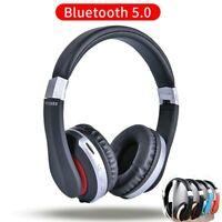 casque sans fil Bluetooth casque pliable stéréo écouteurs de jeu avec Microphone