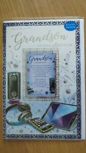 A VERY SPECIAL GRANDSON LARGE SIZE BIRTHDAY CARD