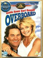 Overboard DVD 1987 Comedy Romcom Movie Classic w/ Goldie Hawn + Kurt Russell