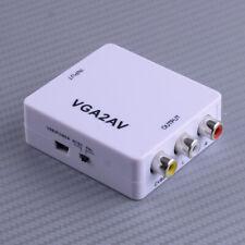 VGA to AV RCA CVBS Mini Box HD TV Video Converter Adapter Connector Kit VGA2AV