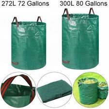272/300L Heavy Duty Garden Waste Bag Reusable Waterproof Refuse Sack with Handle