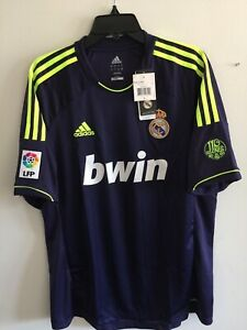 Adidas Real Madrid Away 2012-13 soccer jersey Navy Yellow Size L Men's Only
