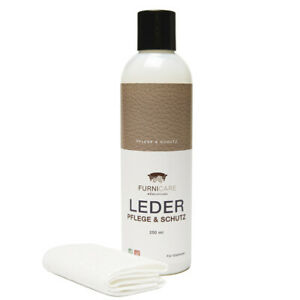Furnicare Ledercreme für Pflege & Schutz + Tuch für Glattleder 250ml (59,80€/1L)