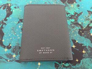 Smythson Of Bond Street Grey Gents Wallet Rrp £195
