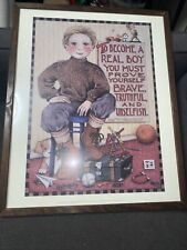 Mary Engelbreit 1991 Illustration To Become a Real Boy, Framed 17�x21�