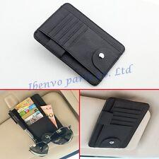 Car Sun Visor Accessory Black Pens Clasp Leather Card Glasses Shelf Pocket Parts