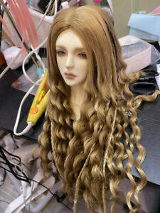 1/3 SD BJD Wig Hair Long Curly Lion Wig PUNK Style Unisex Brown/White Cool
