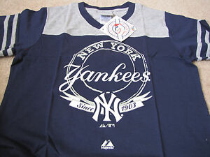 MLB Girls New York Yankees Short Sleeve Brushback Tee Shirt - XL 14/16 - New
