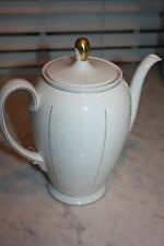 "Rosenthal China Coffe Pot with Lid ""White Velvet"" Vintage Made in Germany"