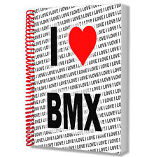 I Love BMX - A5 Notebook Pad Diary Drawings Birthday Christmas Gift