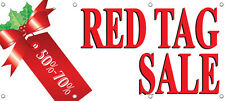 RED TAG SALE 50%-70% OFF BANNER SIGN RETAIL STORE SALE Multi Color 96in x 36in