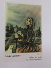 "Saint Germaine de Pibrac Prayer Card, 5"" X 2  3/4"", From France"