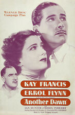 Another dawn Errol Flynn Kay Francis movie poster print