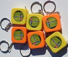 3 FT MEASURING TAPE KEYCHAINS ( LOT OF 12 )  1m/3ft