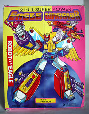 RARE VINTAGE 80'S TRANSFORMING EAGLE WARRIOR FRICTION ROBOT NEW NOS !