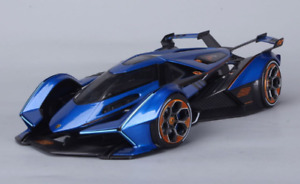 Maisto 1:18 Lamborghini V12 Vision Gran Turismo Diecast Model Racing Car Blue