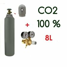 CO2 Gas Bottle Cylinder 100% FULL 6KG 8 Liter 200 Bar Pure Gas Welding Regulator