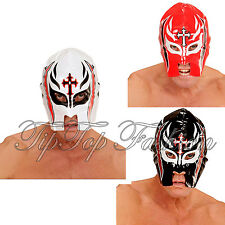 Red,Black White Wrestler Mask for Halloween Mexican Sports Fancy Dress Accessory