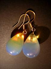 Ohrringe Opaltropfen in Gold Opal Opalit  Unikat Handarbeit