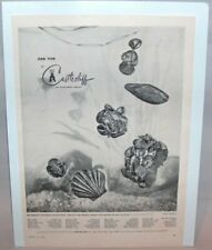 p7811 CASTLECLIFF 1956 Jewelry Ad Large 9 x 12 Bracelet  Brooch Advertising