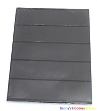 10 Sheets of Stamp Album Stock Pages (5 Strips) Display - Black & Double Sided