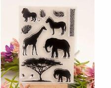 African Animals Craft Stamps