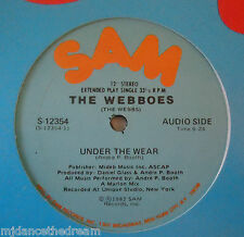 "THE WEBBOES ~ Under The Wear ~ 12"" Single USA PRESS"