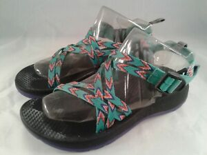 CHACO ZX1 BOYS GIRLS YOUTH SPORT HIKING WATER SANDALS SZ 4 MULTICOLOR EXCELLENT