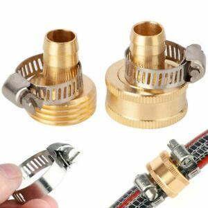 """5/8"""" Garden Brass Mender End Repair Kit Hose Connector Male Female 0.7"""" Diameter"""
