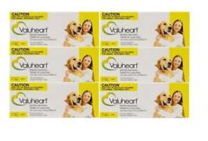 Valuheart Heartworm Tablets for Large Dogs 21-40kg Monthly Dosage - 6 X 6 Pack