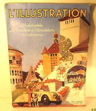 Kunst MAGAZINE COVER FRENCH AUTOMOBILE L'ILLUSTRATION TOUR ART PRINT POSTER BB7967