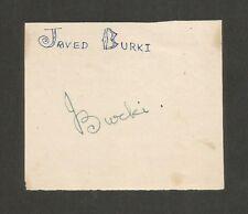 Cricket Pakistan signature autograph of JAVED BURKI 1950s-60s