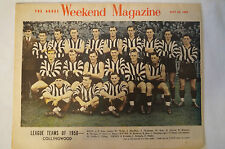 Collingwood - Vintage 1950 Collectable - Team Photo - The Argus Weekend Magazine