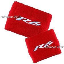 YAMAHA R6 BRAKE/CLUTCH RESERVOIR SOCKS FLUID TANK OIL CUP COVER RED&WHITE SET