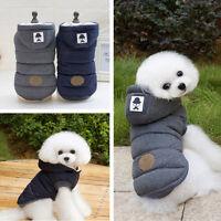 Jacket Pet Winter Cotton Coat Hoodie Hat Warm Apparel Puppy Cat Dog Clothes.#