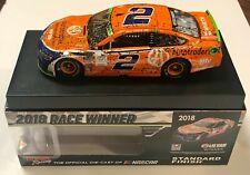2018 Brad Keselowski Las Vegas Win NASCAR Signed Auto 1/24 Diecast Car COA