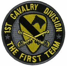 US ARMY 1ST CAV DIV FIRST TEAM CAVALRY DIVISION PATCH VETERAN FORT HOOD HORSE