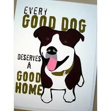 Pit Bull Good Dog Note Card (Blank Inside) -Free Shipping!
