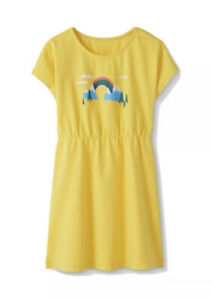 NWT HANNA ANDERSSON RAINBOW MAKE BELIEVE ART DRESS YELLOW 140 10 $36