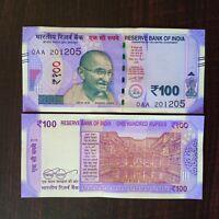 India 5 Rupees Gandhi First Prefix 00A L Inset 2009 UNC