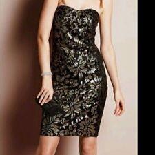 "BNWT "" NEXT "" Size 12 Petite GOLD SEQUINED DRESS Party, Weddings (40 EU) Black"